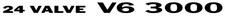 Mitsubishi Delica 24 VALVE V6 3000 x2 (rear1/4) sticker5