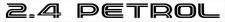 "Toyota Hiace Van ""2.4 PETROL"" tailgate sticker (tailgate) sticker"