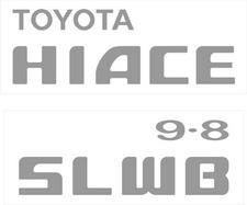 Toyota Hiace SLWB 9.8 sticker set (tailgate)