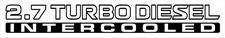 Nissan Patrol GU 2.7 Turbo Diesel Intercooled x2 (doors) sticker