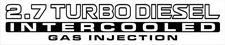 Nissan Patrol GU 2.7 Turbo Diesel Intercooled Gas Injection x2 (doors) sticker