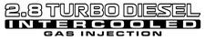 Nissan Patrol GU 2.8 Turbo Diesel Intercooled Gas Injection x2 (doors) sticker