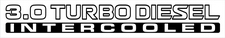 Nissan Patrol GU 3.0 Turbo Diesel Intercooled x2 (doors) sticker