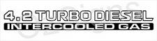 Nissan Patrol GU 4.2 Turbo Diesel Intercooled Gas x2 (doors) sticker