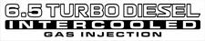 Nissan Patrol GU 6.5 Turbo Diesel Intercooled Gas Injection x2 (doors) sticker