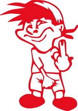 The Finger sticker