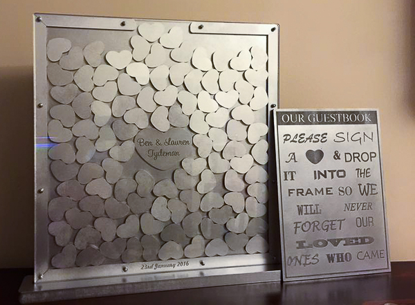 mdf/acrylic freestanding guestbooks